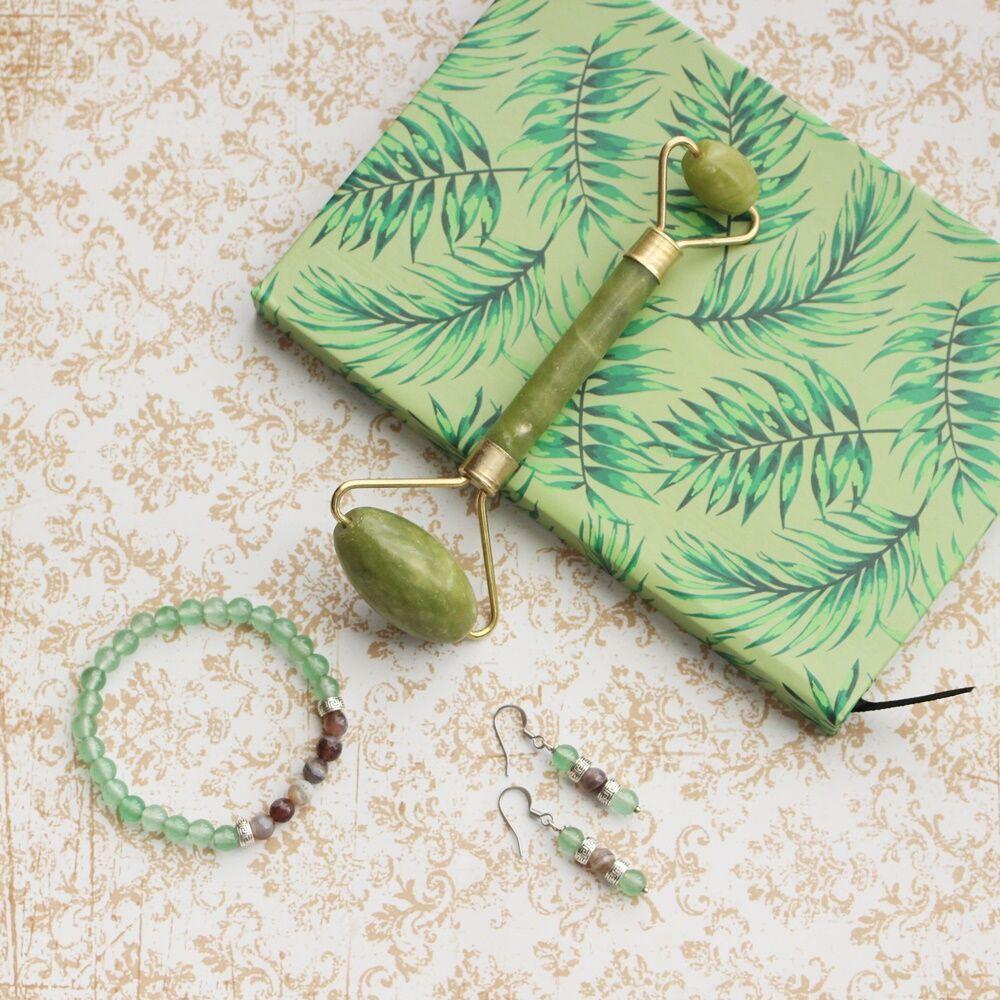 Zöld szépség ásványos ajándékcsomag jádéval