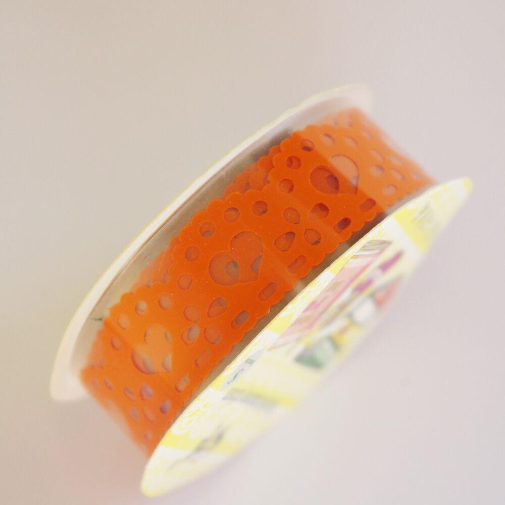 Csipkemintás ragasztószalag - narancs