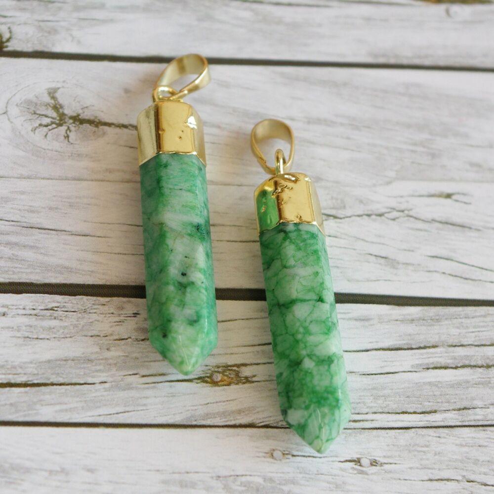 Színes ásványmedál - zöld