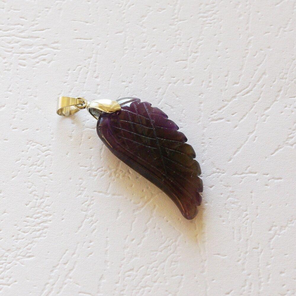 Ametiszt angyalszárny medál