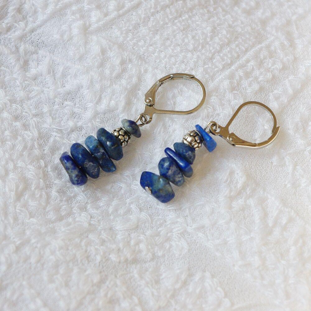 Lapis lazuli zizi fülbevaló