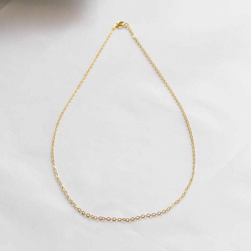 Kiegészítő nyaklánc medálokhoz - rövid arany színű