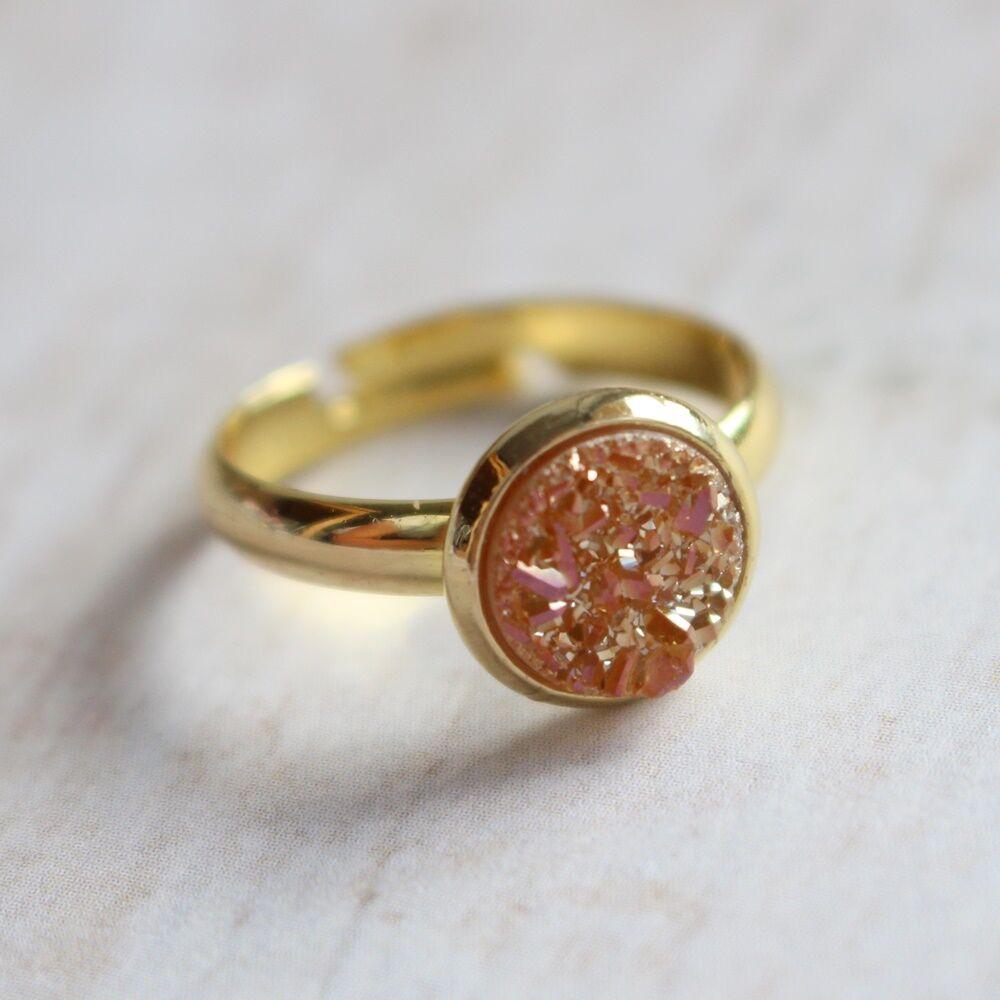 Csiszolatlan pötty gyűrű - narancs