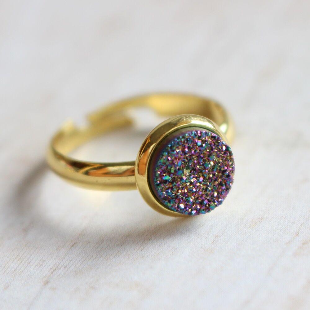 Csiszolatlan pötty gyűrű - színjátszó