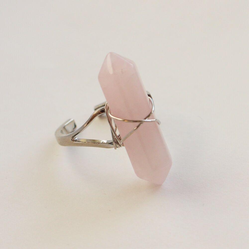 Rózsakvarc gyűrű