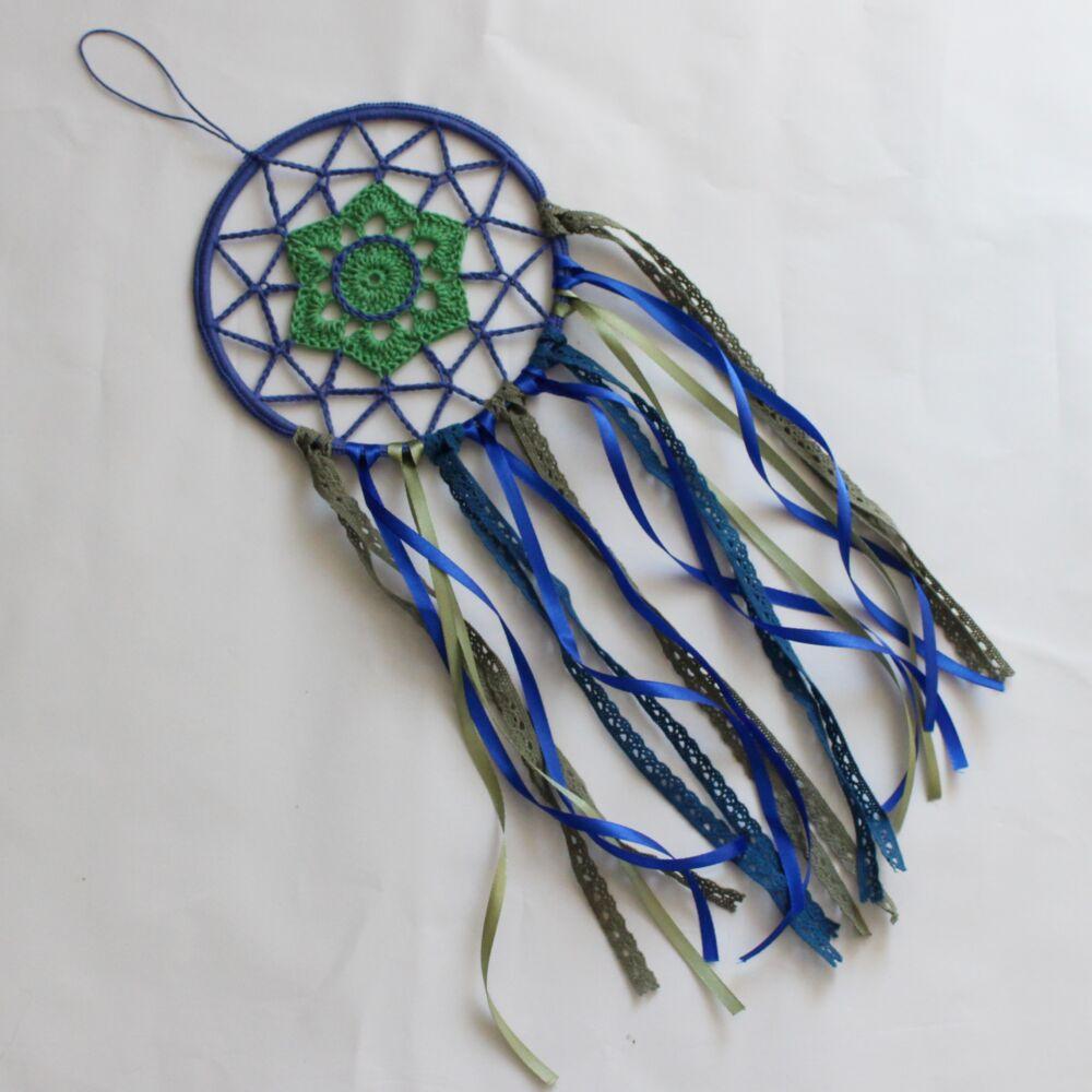Álomfogó - kék és zöld