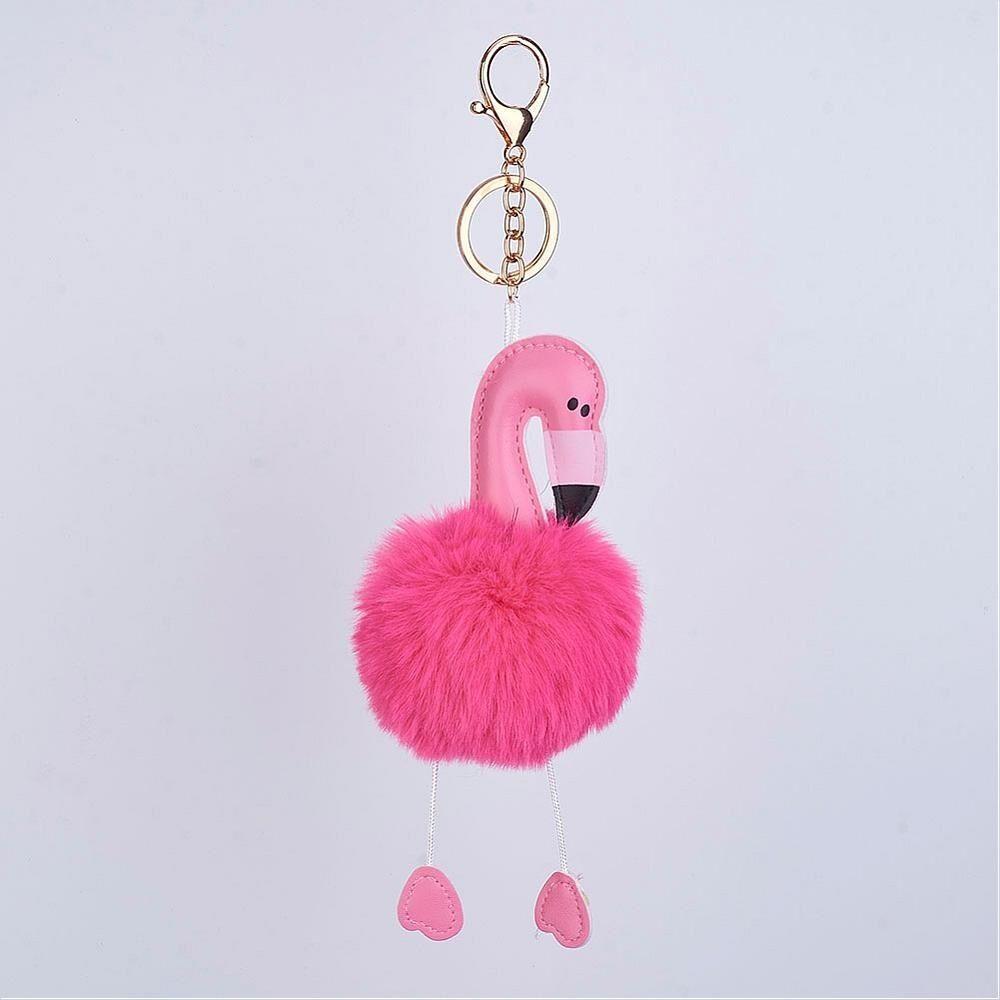 Flamingó kulcstartó táskadísz