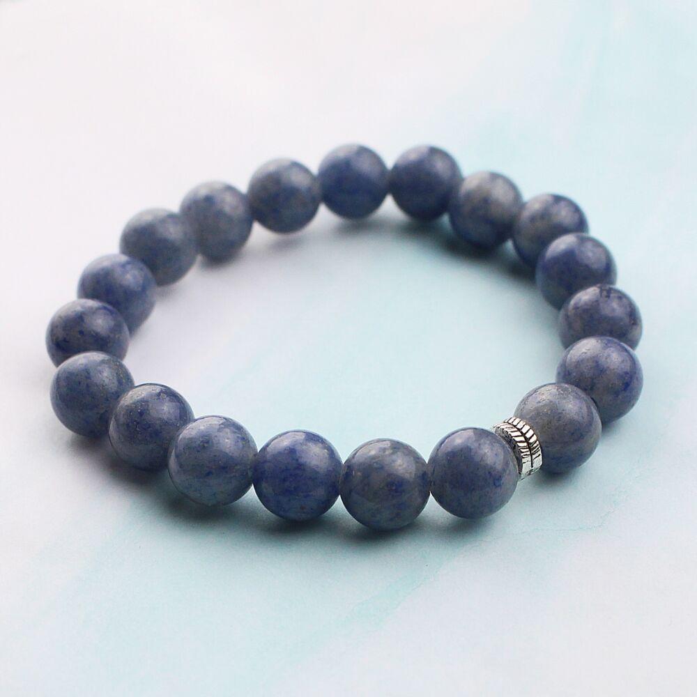 Kék kvarc karkötő - 10 mm