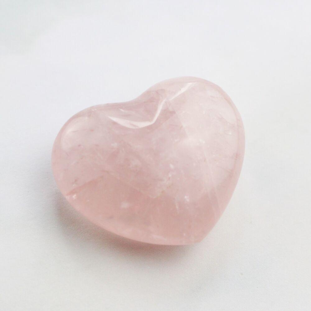 Rózsakvarc szív marokkő