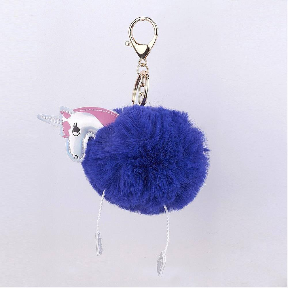 Unikornis kulcstartó táskadísz - kék