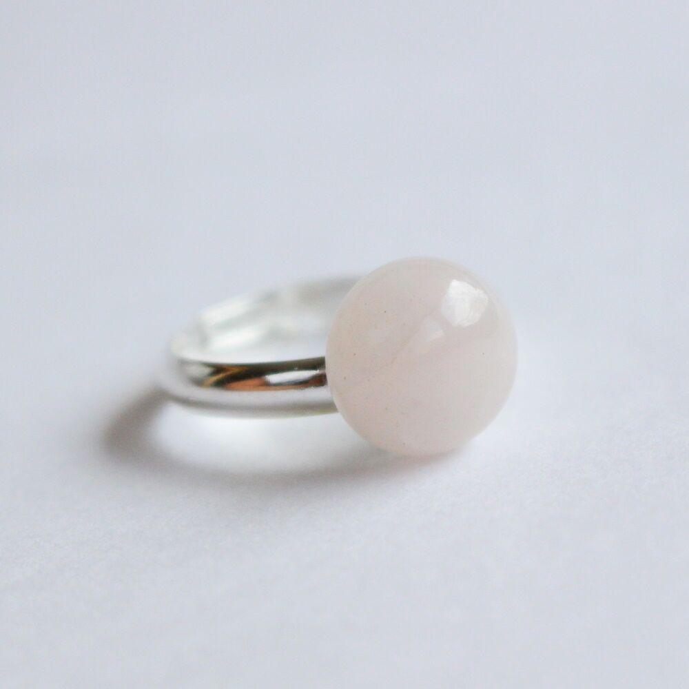 Rózsakvarc pötty gyűrű