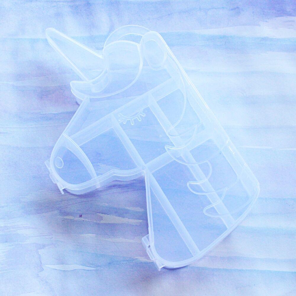 Unikornis formájú gyöngytartó doboz