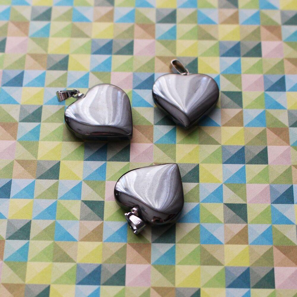 Hematit szívmedál