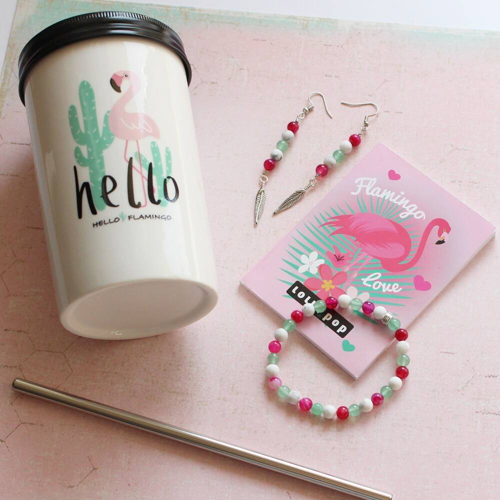 Flamingó tánca ásványos ajándékcsomag