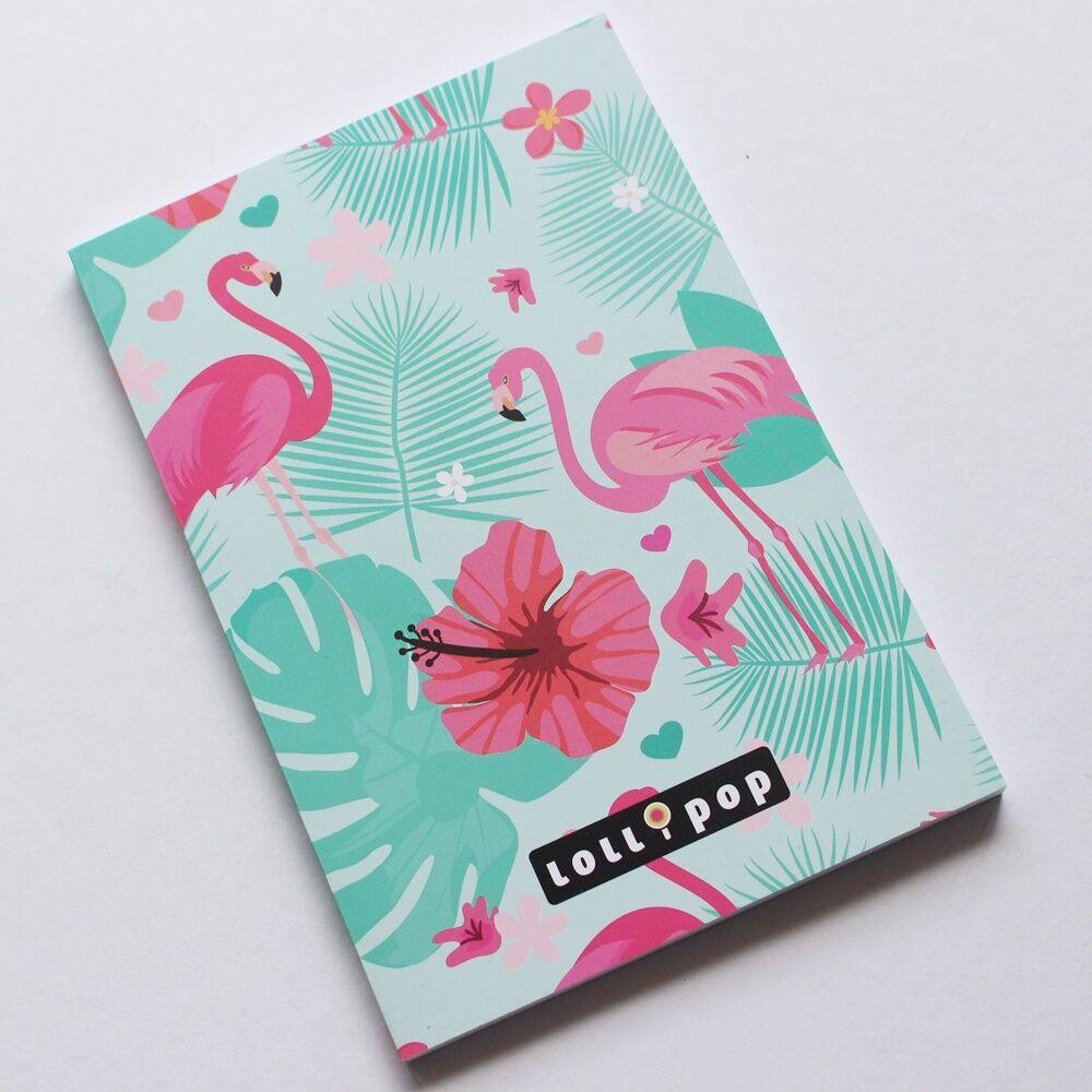 Flamingós mini notesz A7 - sima