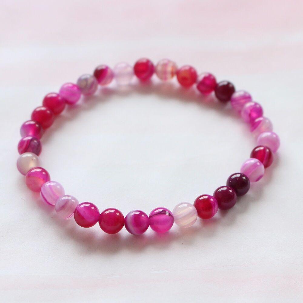 6cae698f3 Pink achát karkötő
