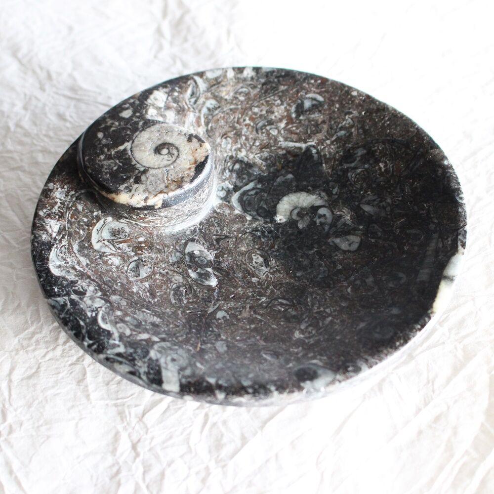 Ammonitesz tálka - kerek 12 cm