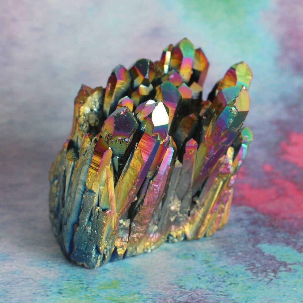 Aurakvarc kristálytelep - szivárvány