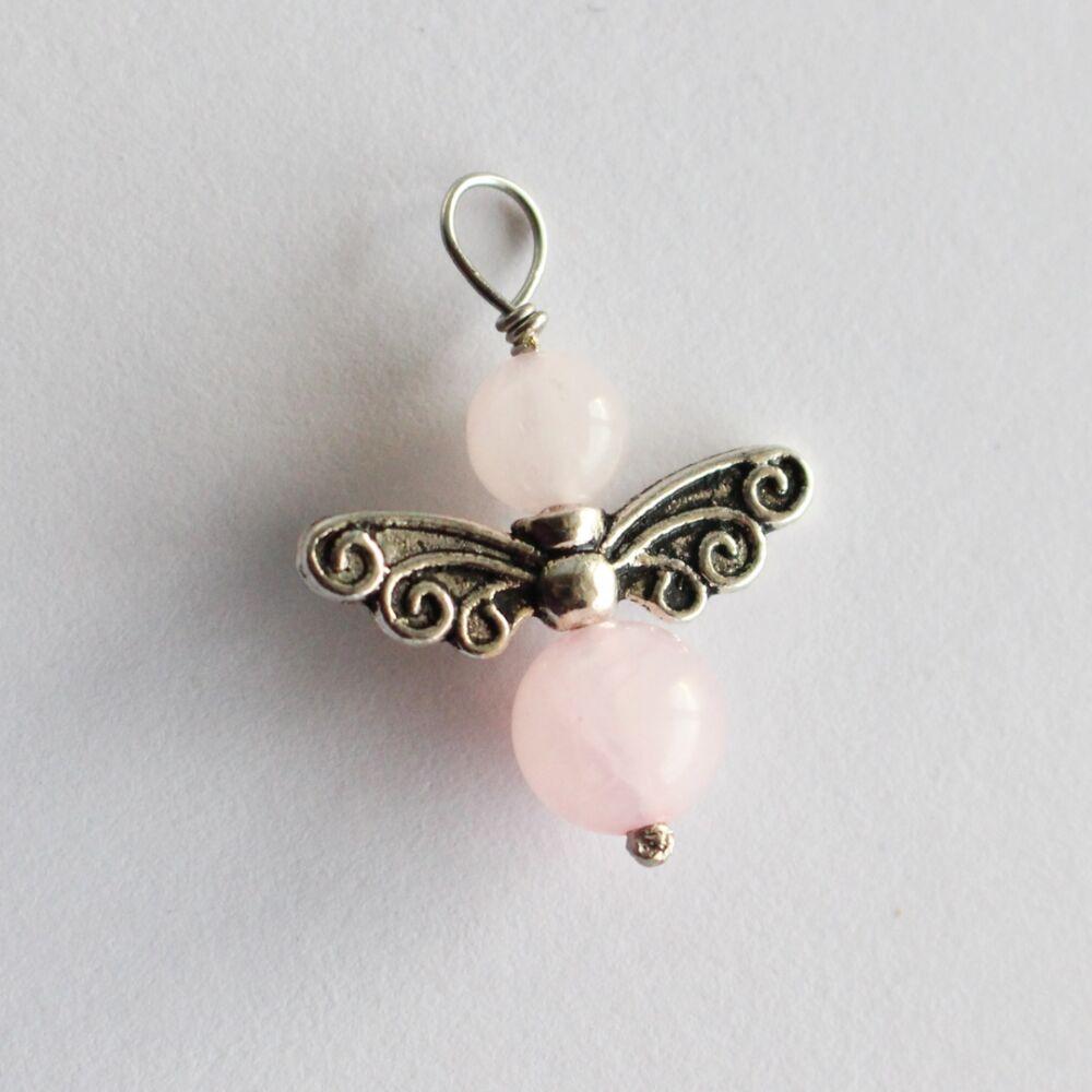 Angyalka medál - rózsakvarc