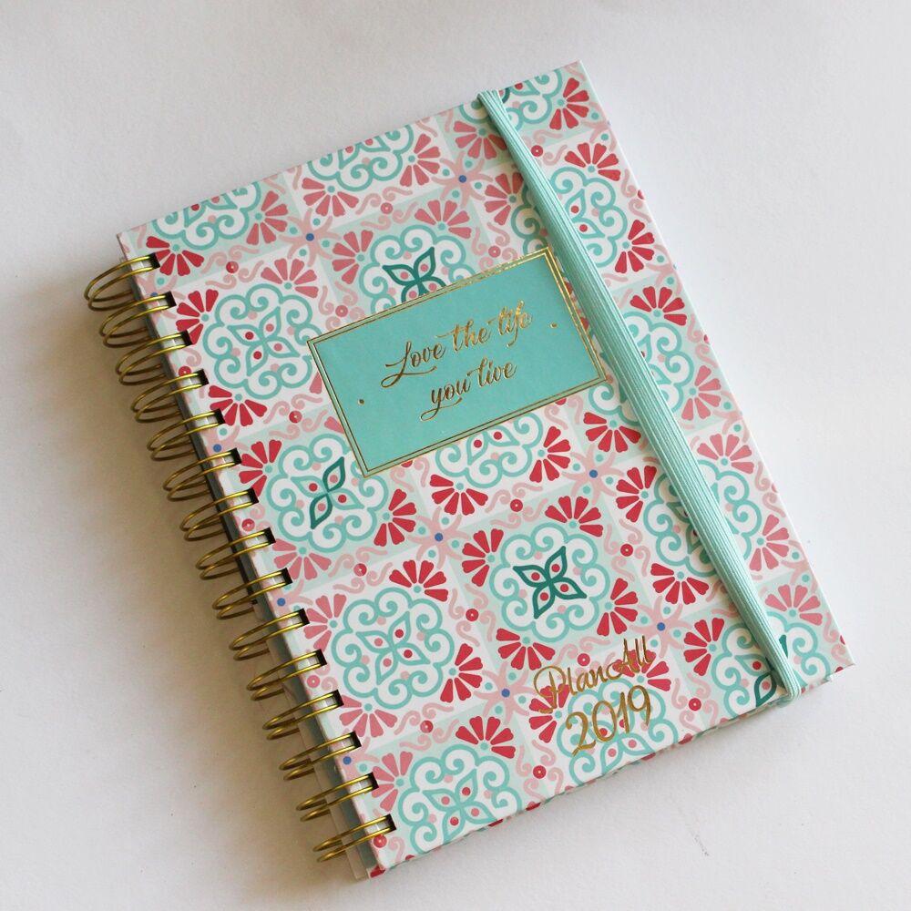 PlanAll heti tervező naptár - türkiz és pink