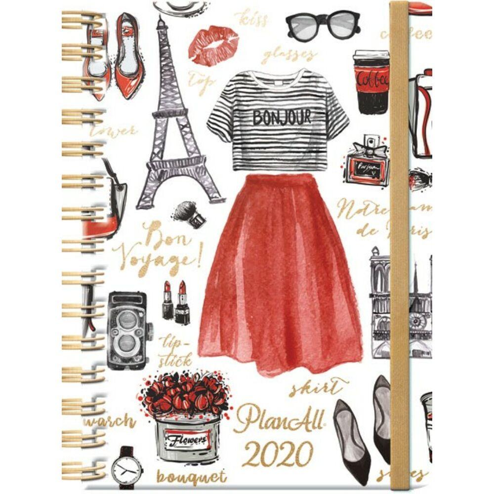 PlanAll heti tervező naptár - Párizs
