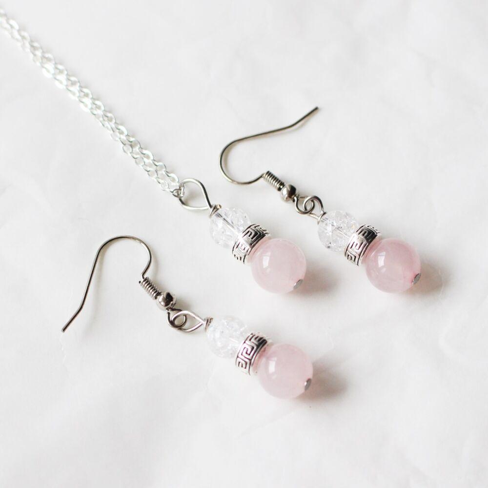 Hegyikristály és rózsakvarc mini szett
