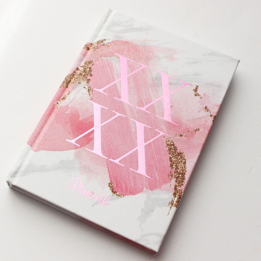 Mini PlanAll heti tervező naptár - rózsaszín