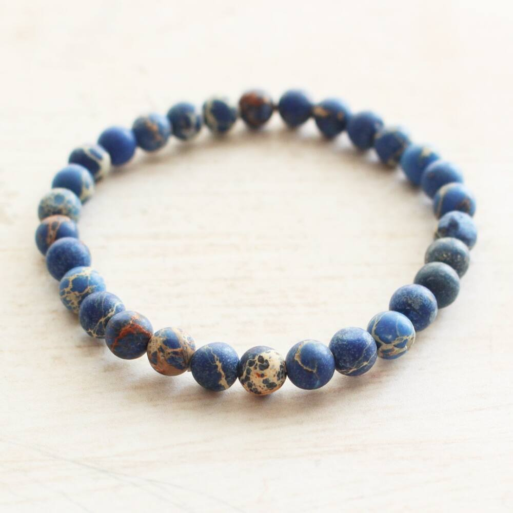 Kék morganit karkötő