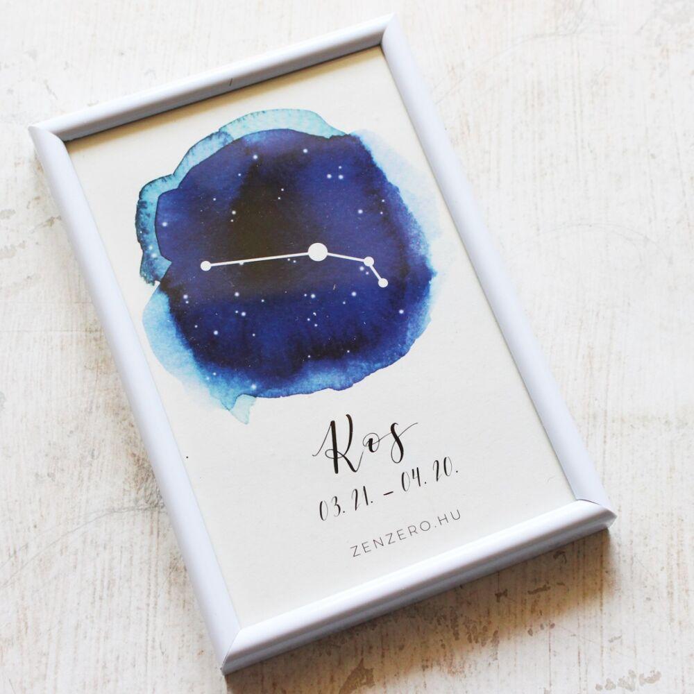 Kos csillagjegy nyomat keretben
