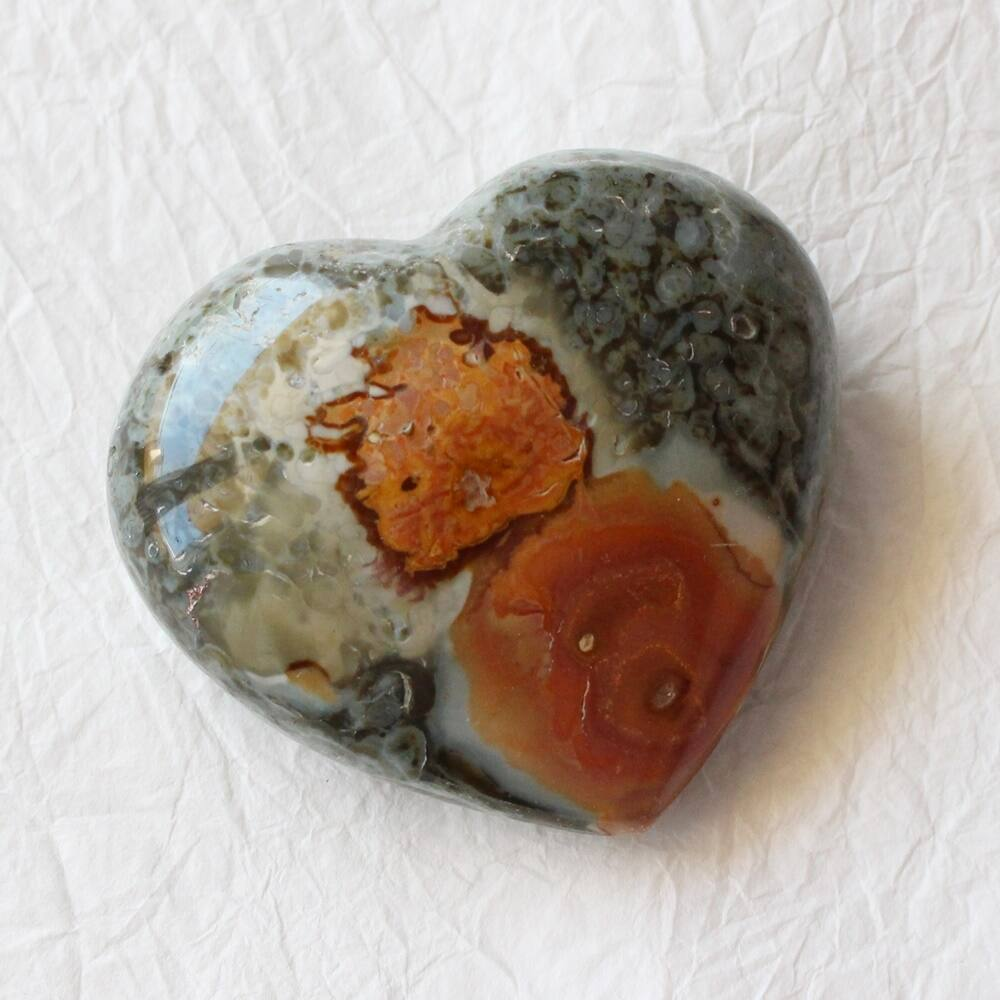 Jáspis szív marokkő - nagy