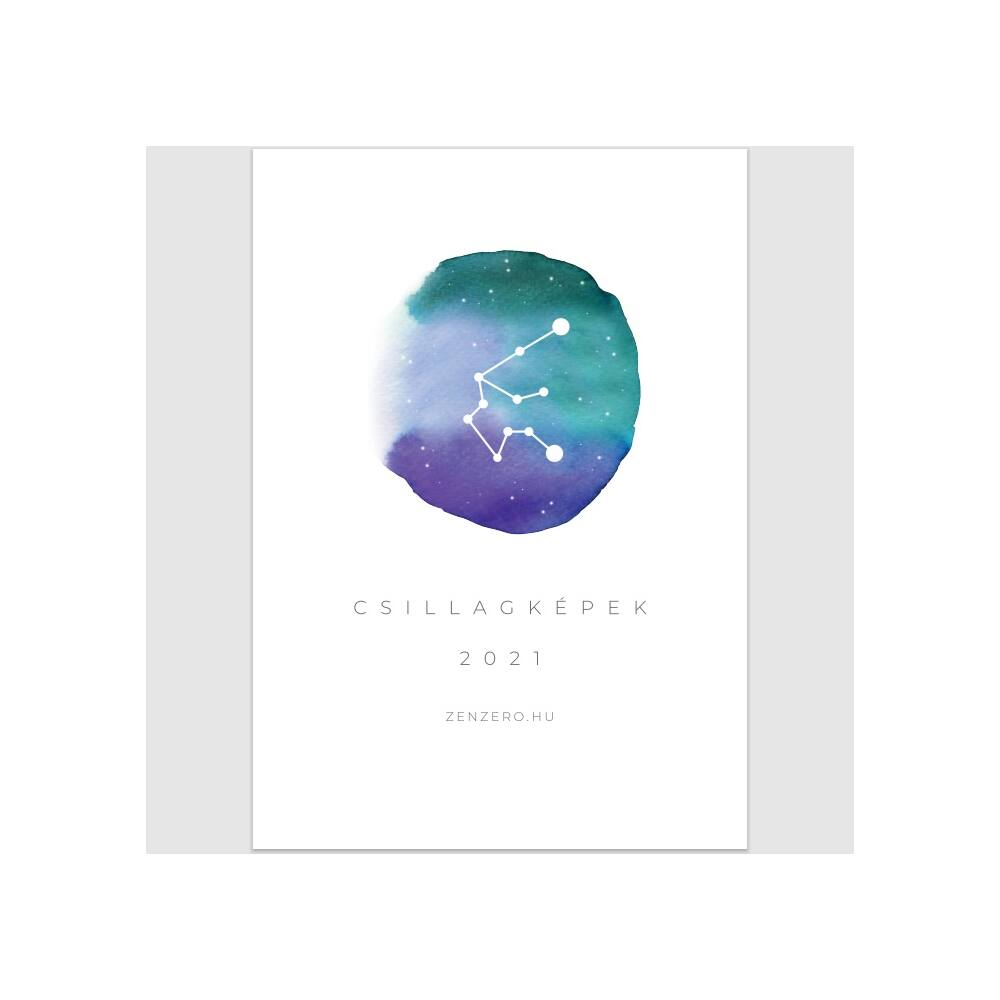 Csillagjegyes falinaptár 2021 - A4 méret