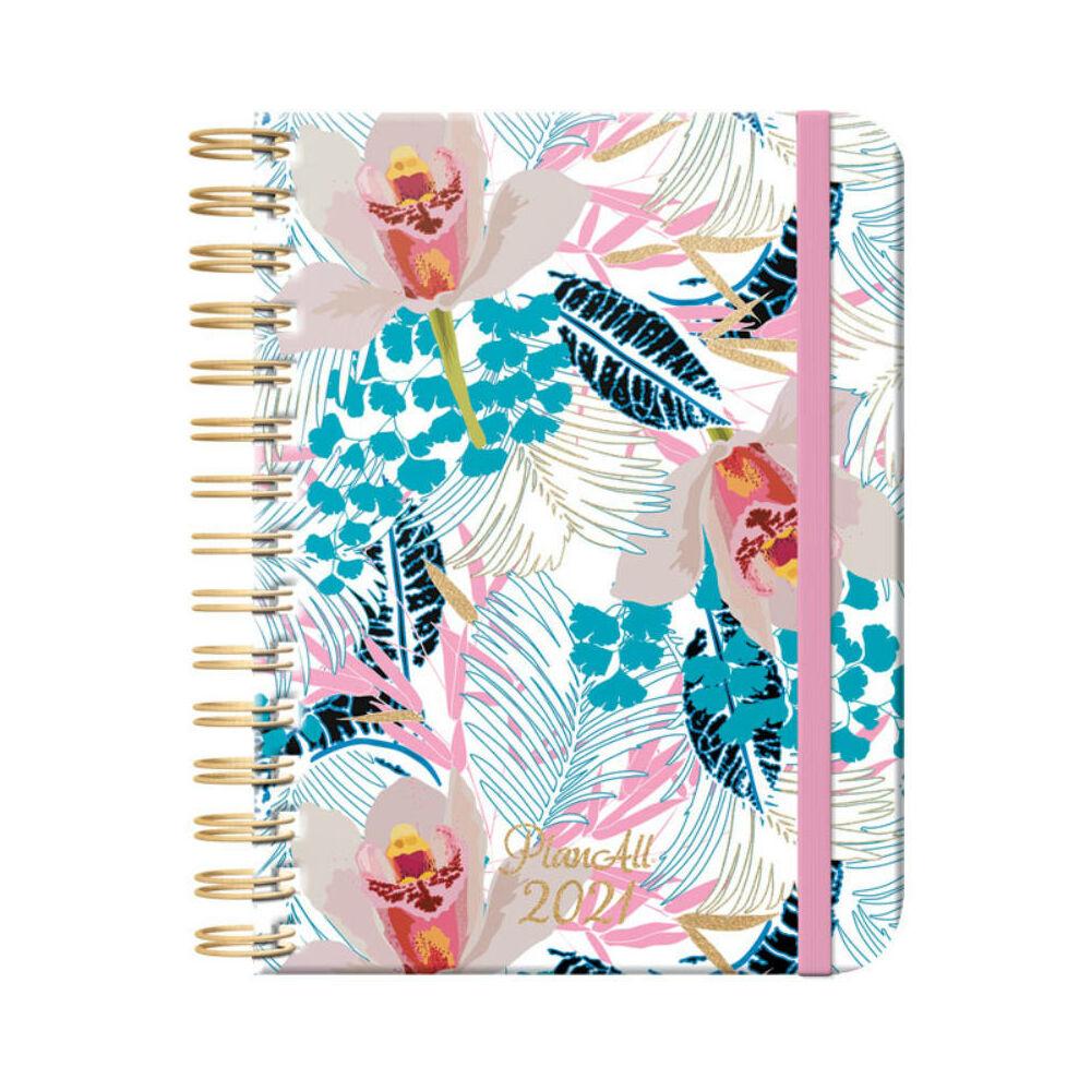 PlanAll heti tervező naptár - orchid