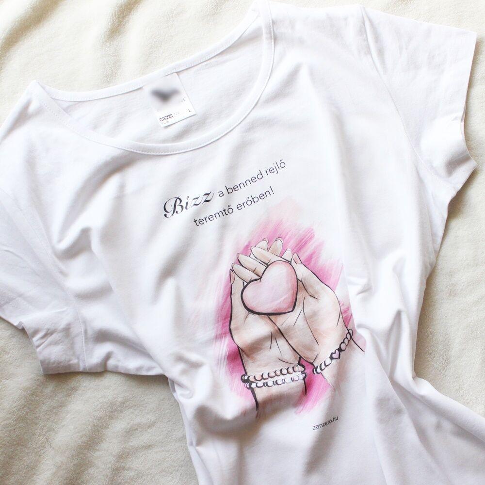 Ásványmintás póló - rózsakvarc M