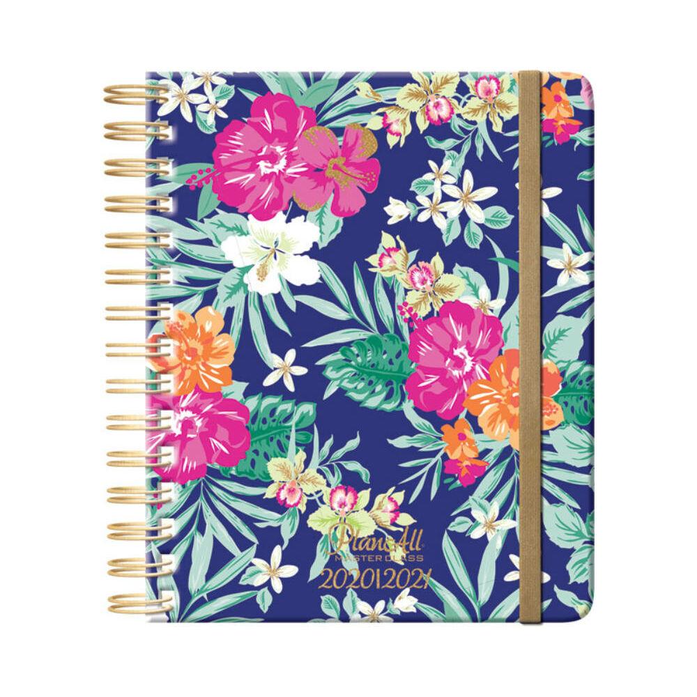 PlanAll tanári tervező naptár - kék virágos