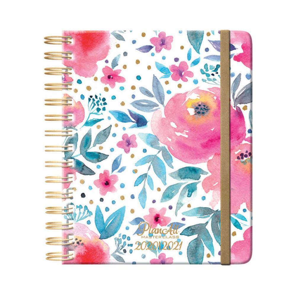 PlanAll tanári tervező naptár - pink virágos