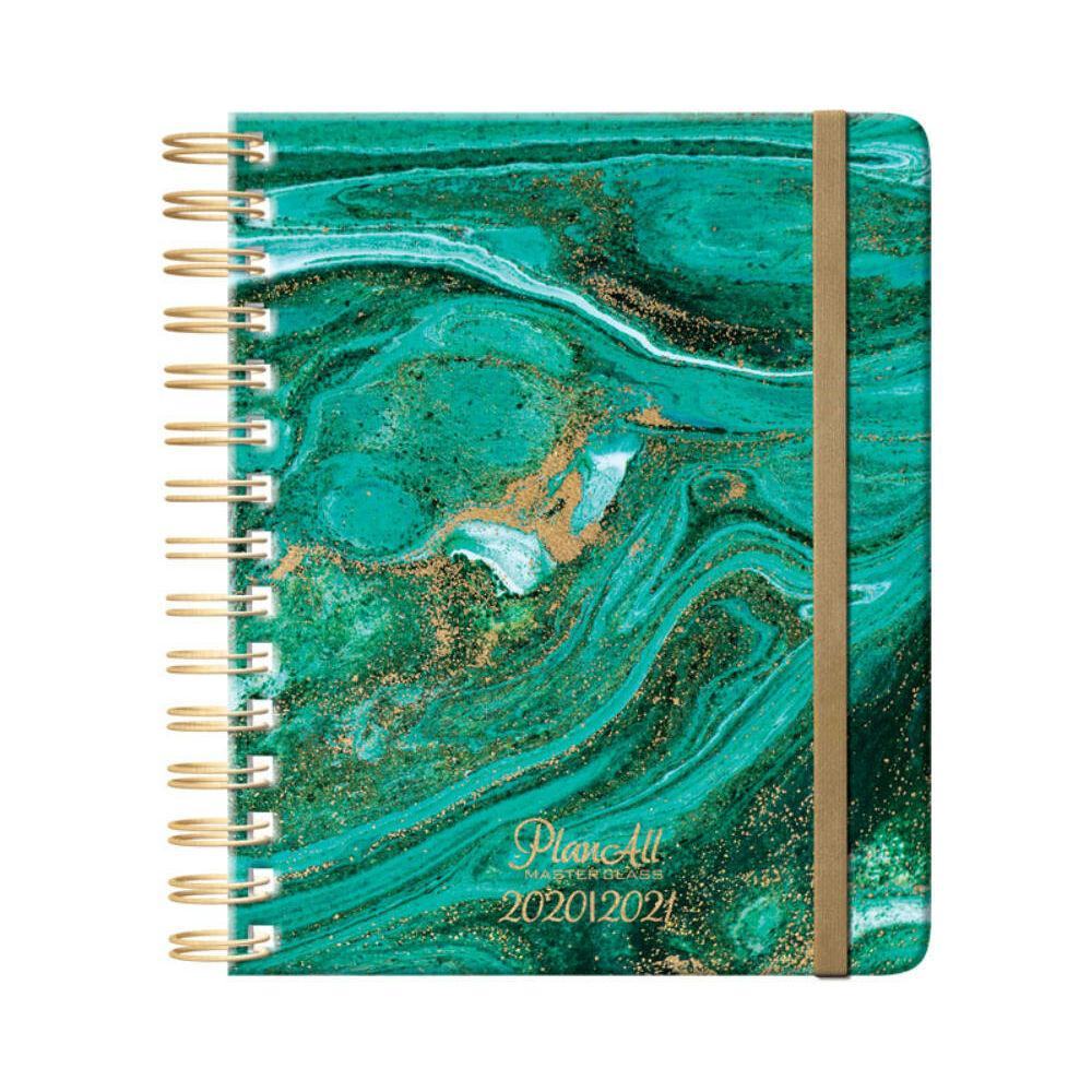 PlanAll tanári tervező naptár - zöld márványos
