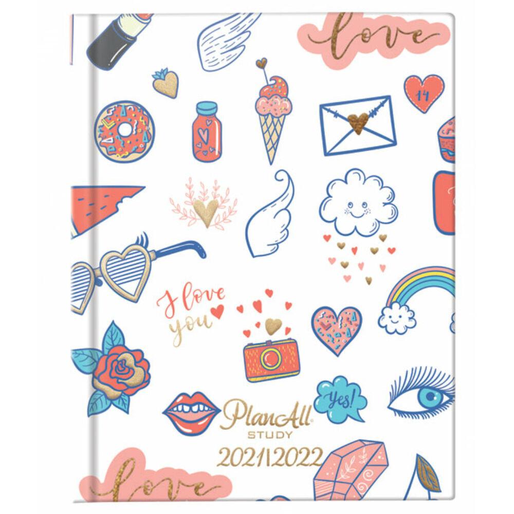 PlanAll diák tervező naptár mini - love