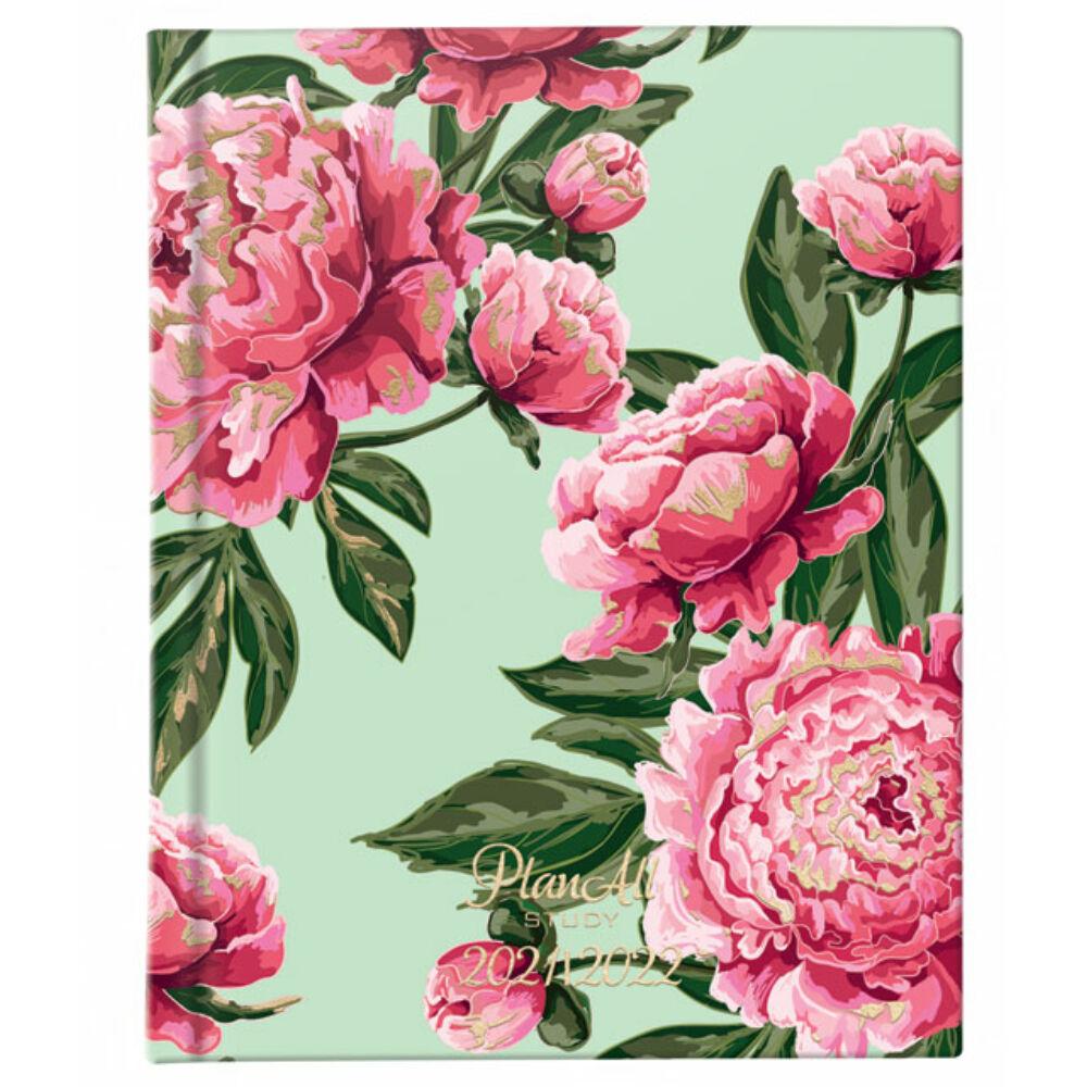 PlanAll diák tervező naptár mini - pink virág