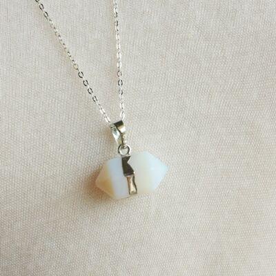 Opalit hatszögletű medál
