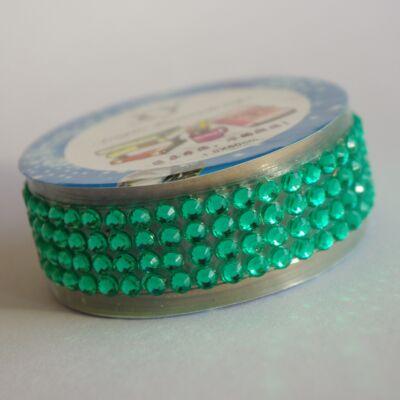 Strasszos ragasztószalag - zöld