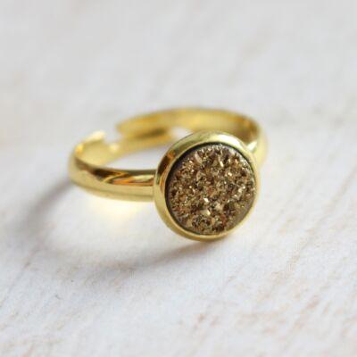 Csiszolatlan pötty gyűrű - réz